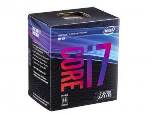 Chip intel i7 8700